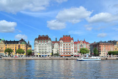 Beautiful quay in Stockholm Royalty Free Stock Photos