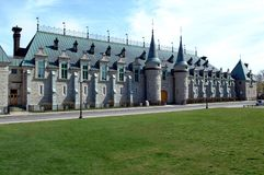 The beautiful Quebec City Armory is a military building in Quebe. C City, it has been destroyed by fire in 2008, it has been destroyed by fire in 2008 Stock Photo