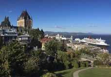 Beautiful Quebec view from the citadelle Royalty Free Stock Image
