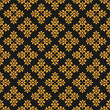 Beautiful queen seamless pattern with fleur de lys ornament elements on dark background. Royal signs in style of fashion illustrat Stock Photos