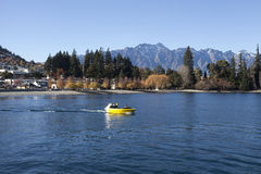 Beautiful Queenstown bay, New Zealand Stock Photo