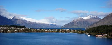 Beautiful Queenstown outdoor capital of the world Royalty Free Stock Photography