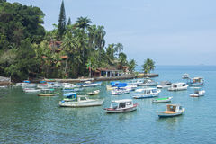 Beautiful quiet tropical port in Brazil Royalty Free Stock Photos