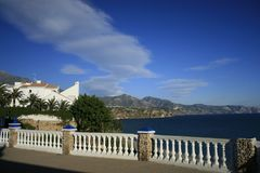 View of the mountains of Nerja royalty free stock image