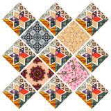 Beautiful quilt design. Multicolor patchwork pattern. Royalty Free Stock Photography