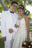 Beautiful Quinceanera With Partner Stock Image