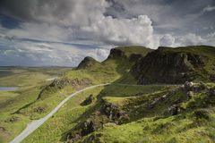 Beautiful quiraing range of mountains in isle of skye, scotland Royalty Free Stock Images
