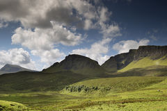 Beautiful quiraing range of mountains in isle of skye, scotland Stock Photos