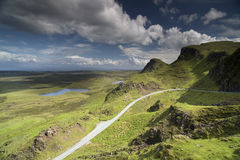 Beautiful quiraing range of mountains in isle of skye, scotland Royalty Free Stock Photo