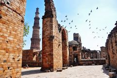 Qutab Minar near Delhi, India. Stock Images