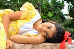 Beautiful radiant mood Stock Images
