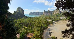 Beautiful Railay beach in Krabi Thailand Royalty Free Stock Photography
