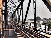 Attractive suburban. Beautiful railway bridge in suburban Royalty Free Stock Photo