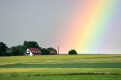 Beautiful rainbow Stock Images
