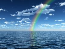 Beautiful rainbow Stock Photo