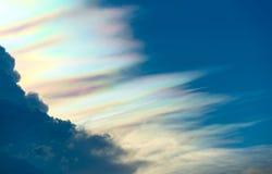 Beautiful rainbow cloud spectrum Royalty Free Stock Photos