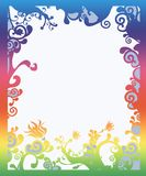Beautiful rainbow colored border stock images