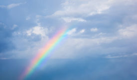 Beautiful rainbow Stock Photography