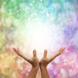 Beautiful Rainbow Healing Energy Stock Photography