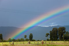Beautiful rainbow - New Zealand Royalty Free Stock Images