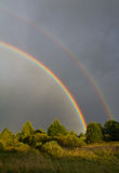 Beautiful rainbow in sky Royalty Free Stock Photography