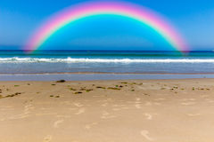 Beautiful rainbow in the sky Stock Photo