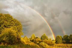Beautiful rainbow in sky Royalty Free Stock Images