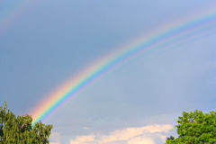 Beautiful rainbow in the sky. Horisontal Royalty Free Stock Photos