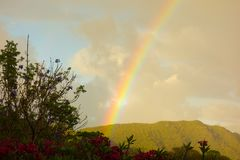 A beautiful rainbow in the windward islands Stock Images