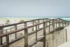 Beautiful rainy day at Florida Beach Boardwalk Royalty Free Stock Photo