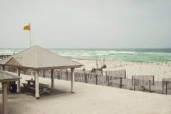 Beautiful rainy day at Florida Beach Royalty Free Stock Photos