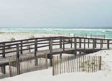 Beautiful rainy day at Florida Beach Royalty Free Stock Images