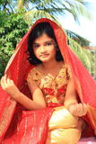 Beautiful Rajasthani girl posing Royalty Free Stock Images