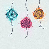Beautiful Rakhi for Raksha Bandhan celebration. Royalty Free Stock Images