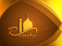 Beautiful ramadan kareem background design. Stock Photography