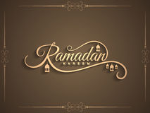 Beautiful Ramadan Kareem text design background Stock Images