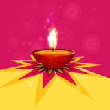 Beautiful rangoli diwali lamp Stock Photo
