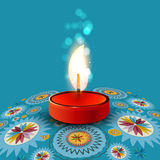Beautiful rangoli Diya colorful  Stock Photo