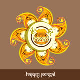 Beautiful rangoli for Happy Pongal festival celebrations. Royalty Free Stock Images