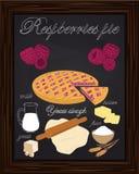 Beautiful raspberries pie and ingredients Stock Photo
