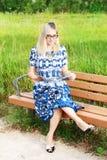 Beautiful Reading Lady Royalty Free Stock Photo