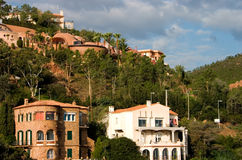 Beautiful real estate. Several beautiful villas on a hillside in the south of France Royalty Free Stock Photos