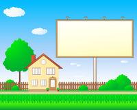 Beautiful real estate with billboard Royalty Free Stock Photography