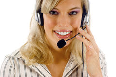 Beautiful Receptionist Stock Photo