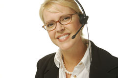 Beautiful Receptionist Royalty Free Stock Photo