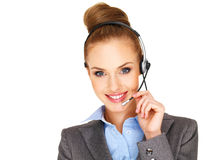 Beautiful receptionist or secretary Royalty Free Stock Photo