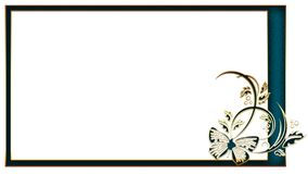 Rectangular frame for photo floral ornament for creativity Royalty Free Stock Image