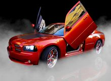 Beautiful Red American Sports Car royalty free stock photo