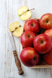 Beautiful red apples Stock Photography