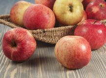 Beautiful red apples Royalty Free Stock Image
